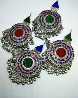 Big Round Small Beads Ear ring/ Head Tikka