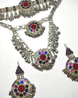 Round Pendants Tribal Necklace Set