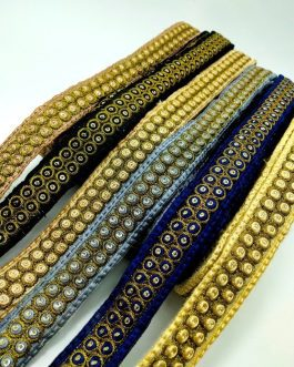 Zong Embroidery With Sequins Trim 7.5mtr
