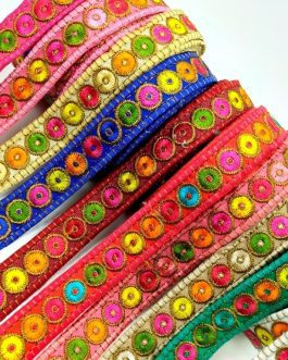 Mix Colour Zong Embroidery Trim 8mtr